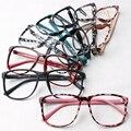 Ralferty Moda Mujer Leopardo Decora Eyewear Gafas de Marco ultraligero Grandes Gafas Marco Sin Lentes Bordes Flexibles TR90