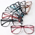 Ralferty Trendy Women Leopard Glasses Frame Ultra-light Big Eyeglasses Frame Decorate Eyewear Without Lens Flexible Rims TR90
