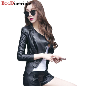 Brand Motorcycle Genuine Leather Jacket Women Winter And Autumn New Fashion Coat Zipper Outerwear jacket New 2017 Coats L006 leather jacket
