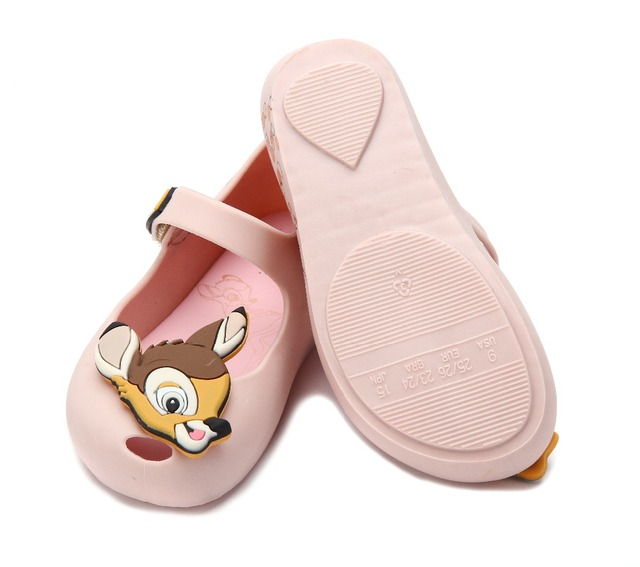 bc771edbfec1 Mini Melissa Girls Sandals 2017 Jelly Shoes Waterproof Sandals Girls Roman  Sandals Breathable Beach Shoes Princess Shoes