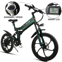 20inch folding electric bicycle 48V lithium battery250W 350W aluminum 6 spokes wheel electric mountain bike off road vehicles