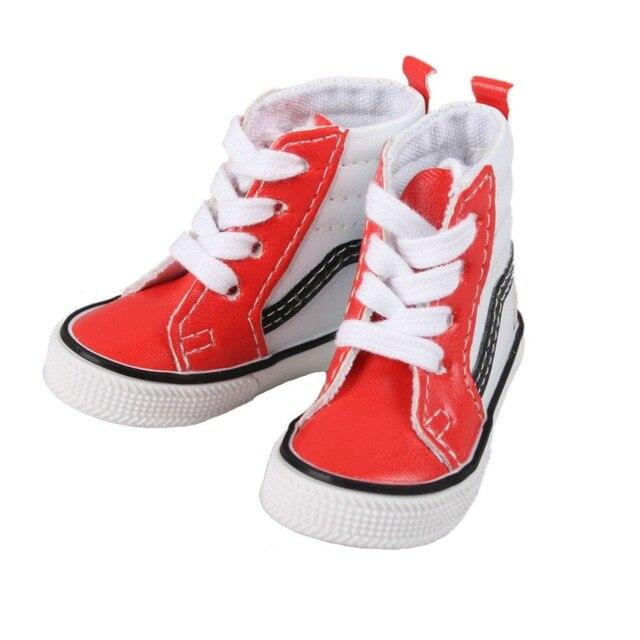 [Wamami] Красный ПУ Высокие Ботинки/Кроссовки/Спортивная Обувь Для 1/4 MSD DZ DOD БЖД Dollfie