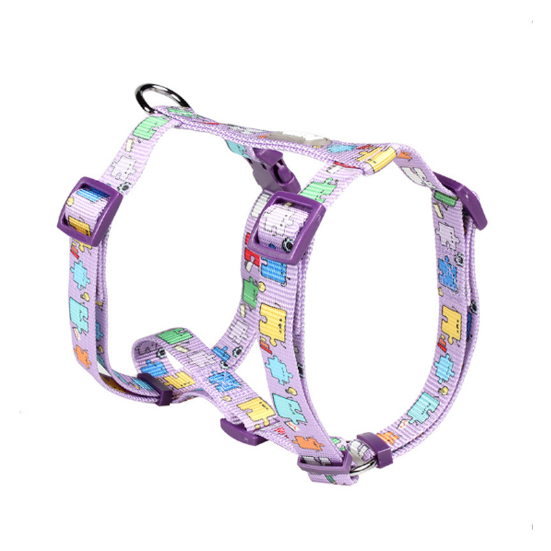 Tuff Hound Nylon Dog H Shaped Harness Print Adjustable Breathable Personalized Pet D ring Soft Comfortable Vest Harness in Harnesses from Home Garden