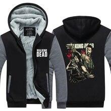 2016Winter Men Tops The Walking Dead Printed Hoodies font b Star b font font b Wars