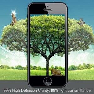 Image 4 - 2 ADET = Ön + Arka Premium Temperli Cam iPhone 5 5 S SE için Anti scratch 9 H 0.26mm 2.5D Ekran Koruyucu Film için iPhone 5 s SE
