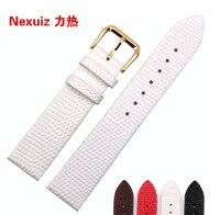 Vintage Genuine Lizard Grain Leather Wristwatch Band Size 12 14 16 18 20mm Ultra Thin Quartz