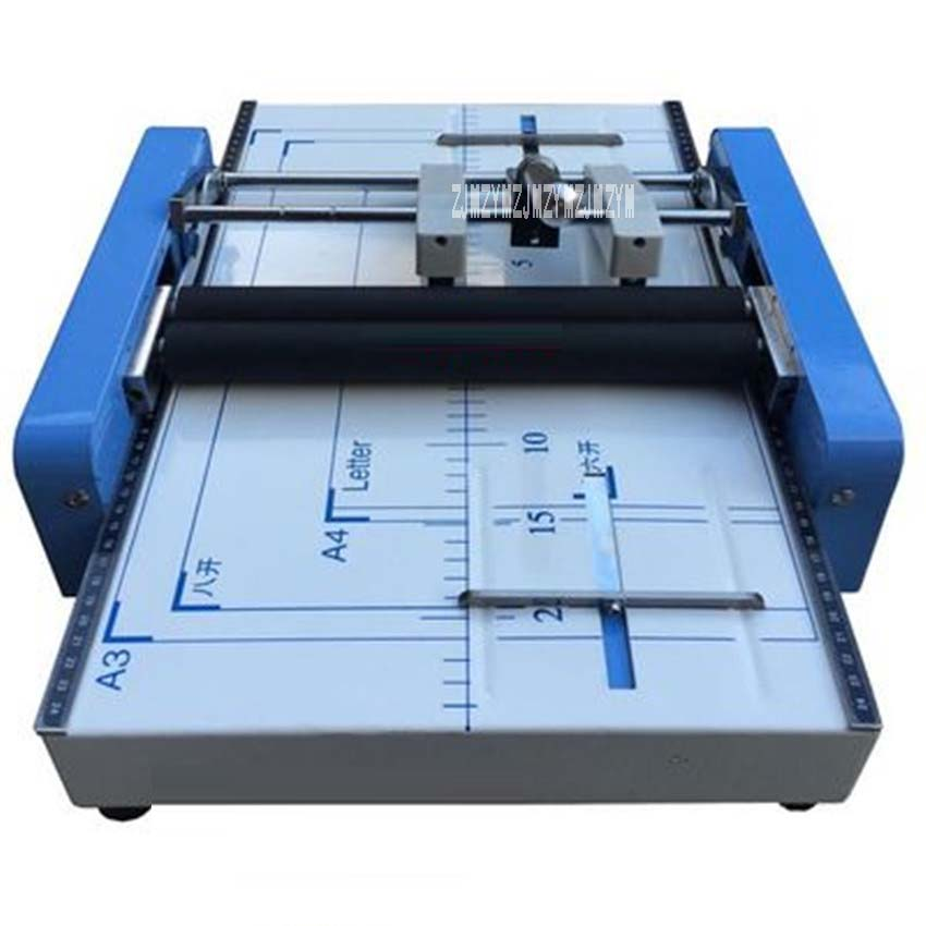 Booklet Stapling Machine A3 size Pamphlet Stapler Paper folding machine 2-in-1 110V, 60 Hz 24/6 type staples folding machine