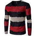 Размер М-5XL Мода Мужские Свитера 2016 Осенью Новый мужская Пуловеры Лоскутное V-образным Вырезом Полный Рукавом Мужская Одежда Slim fit 14T159