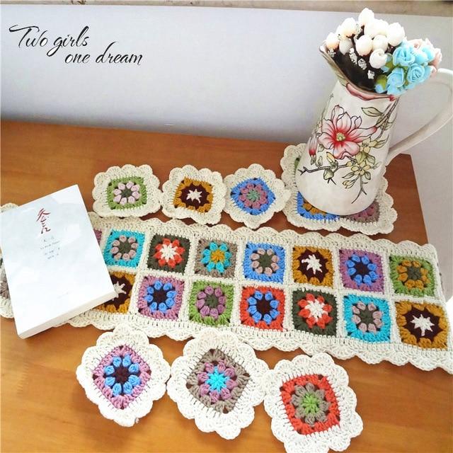 Diy Pastorale Handmade Crochet Centrini Mano Alluncinetto Runner