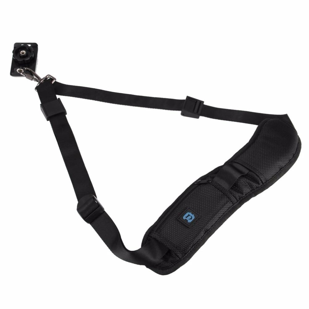 PULUZ Fashion Durable Soft Cushion DSLR Camera Strap Adjustable Belt With Metal Buckle PU6001