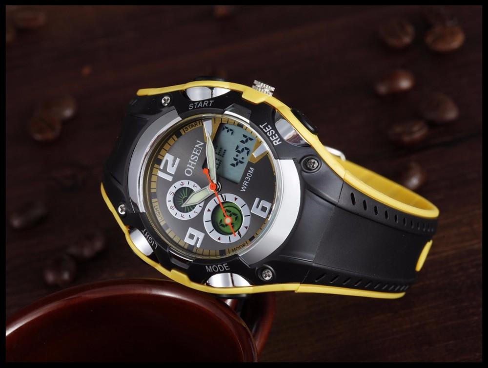 Original Ohsen Brand Fashion Sports Men's Watches 30M Waterproof Rubber Black Rubber Band Digital Sport Wristwatch for Men Gift (26)