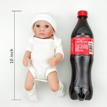 Full Silicone Reborn Baby Dolls Cute Boneca Play Toys for Children 10 inch 28cm Lifelike Mini Menina Toddler Realistic Playmate