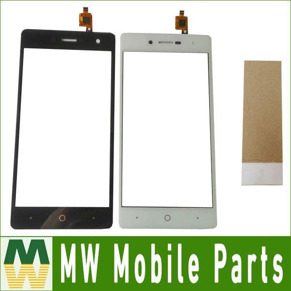 1 PC/Lot Haute Qualité Noir Blanc Couleur Pour ZTE Lame L7 Tactile Écran Tactile Digitizer Panneau avec du ruban adhésif