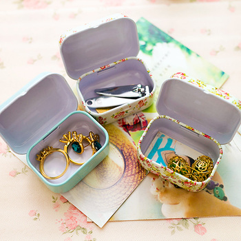 Colorful mini tin box sealed jar packing boxes jewelry, candy box small storage boxes cans coin earrings, headphones gift box 1
