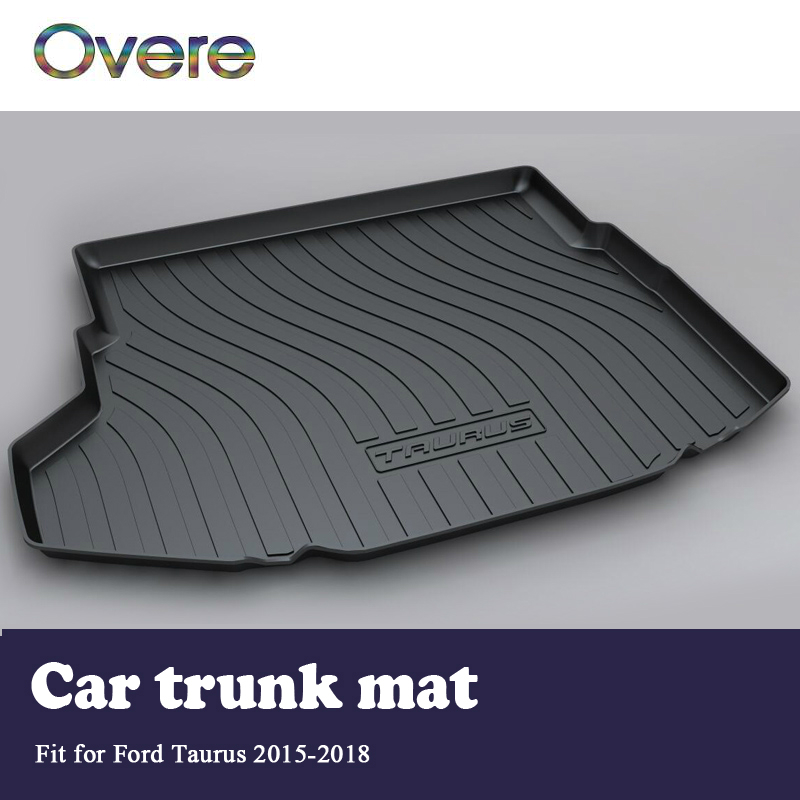 все цены на Overe 1Set Car Cargo rear trunk mat For Ford Taurus 2015 2016 2017 2018 Styling Boot Liner Tray Waterproof Anti-slip accessories онлайн