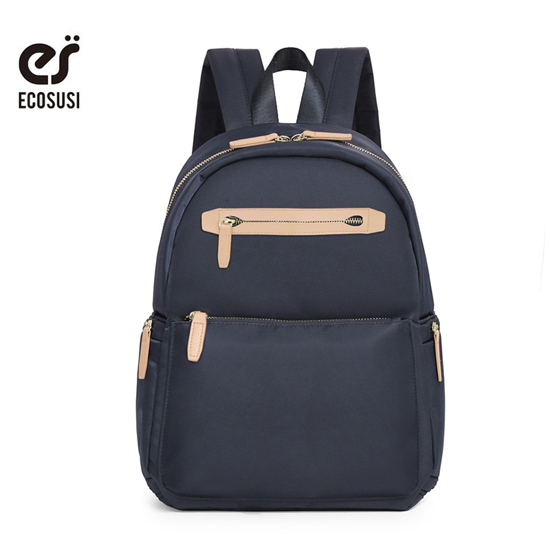 ECOSUSI Nylon Backpacks For Teenager Small Cute School Bags For Girls Book Bag For Student Mochilas