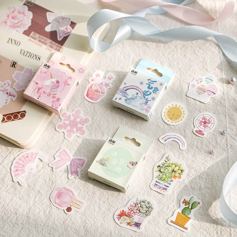 Mohamm Japanese Cake Plant Mini Decorative Kawaii Cute Stickers Scrapbooking Flakes Journal Stationary Deco