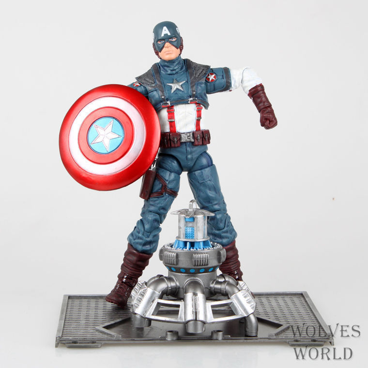 Stock sale Movable Super Hero The Avengers Captain America PVC Action Figure Collectible Model Toy 8 19CM Packed Free Shipping anime dragon ball super saiyan 3 son gokou pvc action figure collectible model toy 18cm kt2841