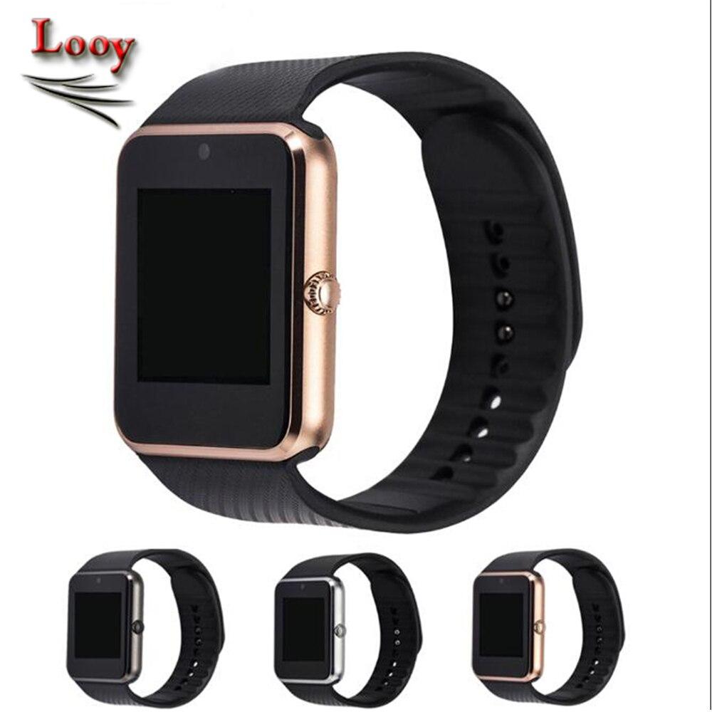 imágenes para Smart watch gt08 reloj con ranura para tarjeta sim empuje mensaje conectividad bluetooth para iphone 7 plus teléfono android smartwatch looy