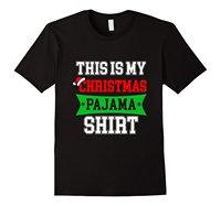 This Is My Christmas Pajama Shirt Funny Christmas Gift Short Sleeve Funny Design Top Tee T