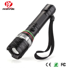 PANYUE Wholesale Waterproof high power 1000LM T6 led Rechargeable Zoomable Torch Flashlight High/ low /Strobe 3-Mode Led Light