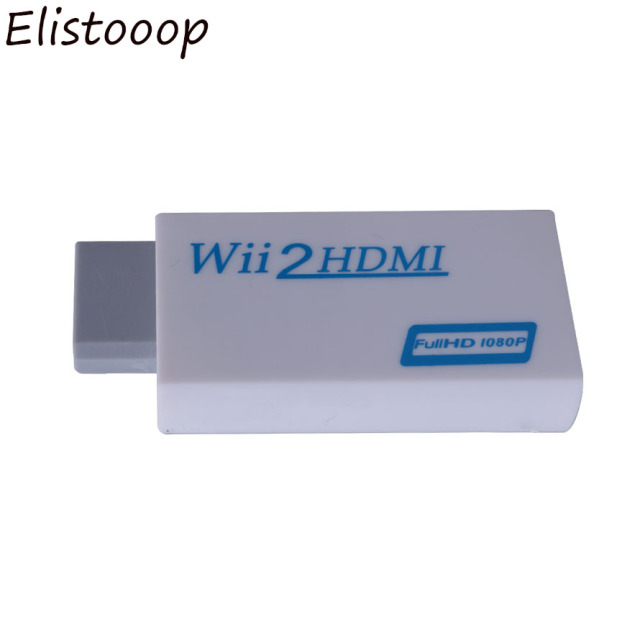 Wii2HDMI Adapter for HDTV monitor 3.5mm Audio Wii to HDMI Adapter Converter Support Full HD 720P 1080P