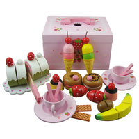 Mother Garden Children Girl S Boy S Wooden Toy Play House Puzzle Game Tea Sets Child