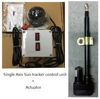actuator + single axis solar tracker sun tracker controller