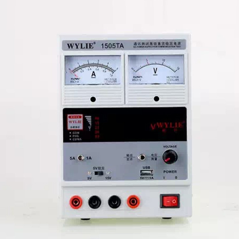 WYLIE 1505TA 220V 15V 5A Regulated Power Supply Digital LED Display DC Power Supply for Mobile Phone Repair Test