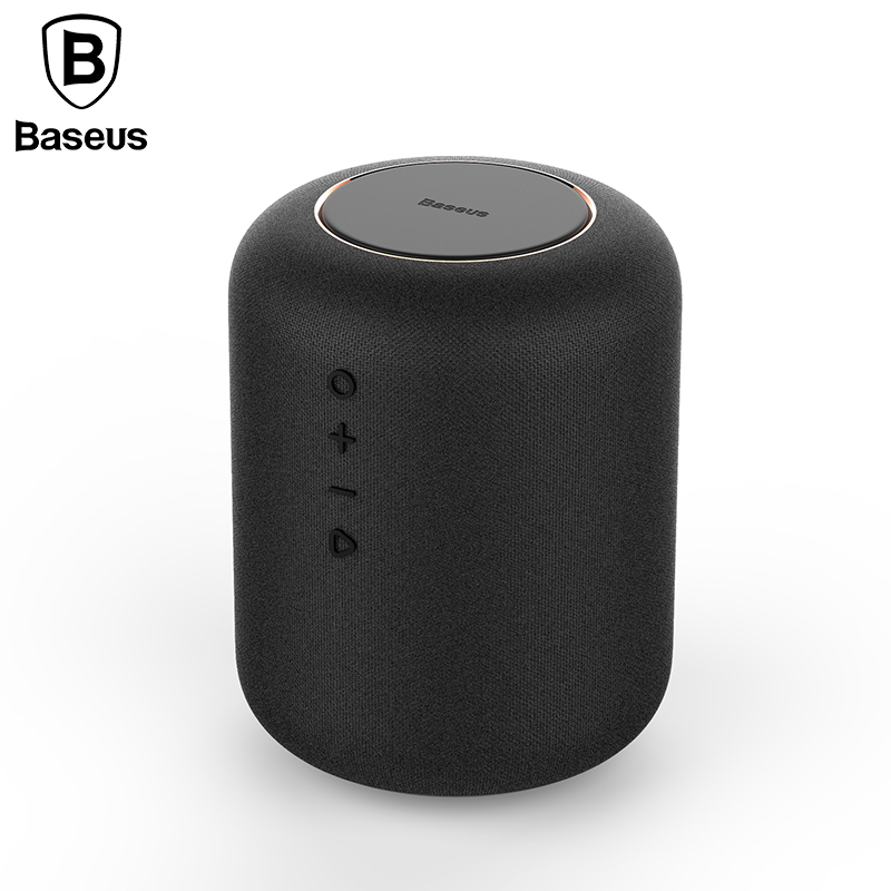 Baseus Portable Bluetooth Speaker With Wireless Charger Fast Charging Qi Wireless Charger Speaker For IPhone X 8 Samsung S9 S8 wireless bluetooth speaker led audio portable mini subwoofer