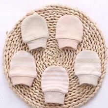 Детские перчатки с защитой от царапин для маленьких девочек и мальчиков; сезон осень-зима; детские перчатки; варежки для новорожденных; Защитные варежки; теплые хлопковые перчатки для детей