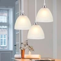 lamp glass lamps lighting aisle corridor Free shipping modern minimalist three restaurant kitchen light bar chandelier FG717