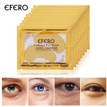 EFERO Gold Mask Dark Eye Patches for Face Care Collagen Crystal Whitening Anti-Aging Gel Pads Circle Moisturizer