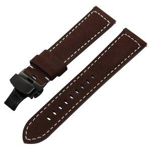 Image 2 - Włochy pasek do zegarka z prawdziwej skóry 20mm 22mm do zegarka Samsung Galaxy 42mm 46mm R810/R800 Quick Release Band motyl zapięcie na pasek