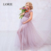 LORIE Purple Wedding Dresses A Line 2018 Robe Mariage Bridal Dress Empire Lace Cap Sleeves Maternity Wedding Dress Plus Size