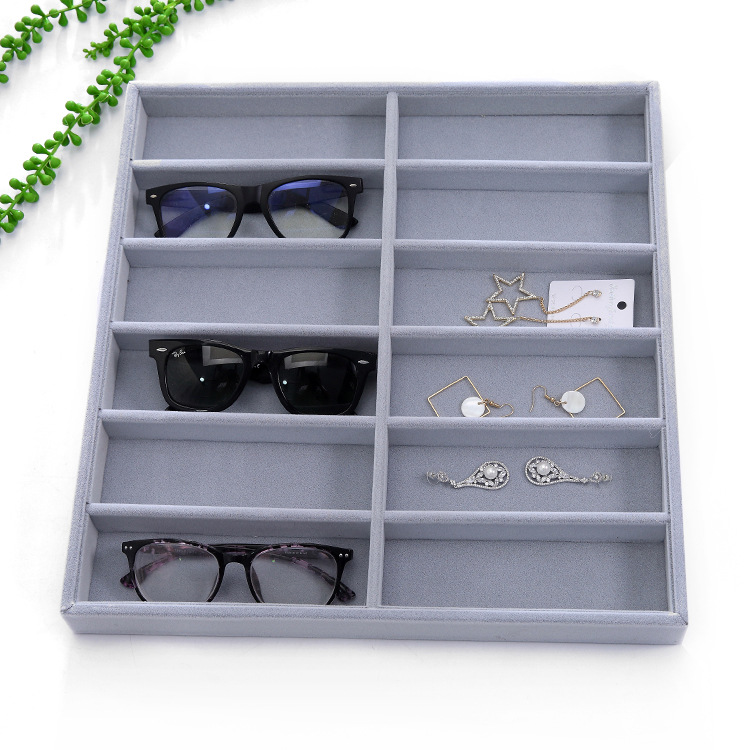 9668001dedcfc ... Display Case Collector Eyeglass Box Sunglasses Storage Box Jewelry  Organizer. Size 38(L) 36(W) 3.7(H)CM package Includes  1 Sunglasses Storage  Box