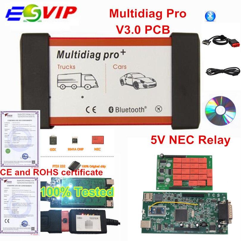 Multidiag Pro Bluetooth 2016.00/2015.R3 Free Keygen V3.0 NEC 9241A Double Green PCB OBD2 Car Truck Diagnostic Tool