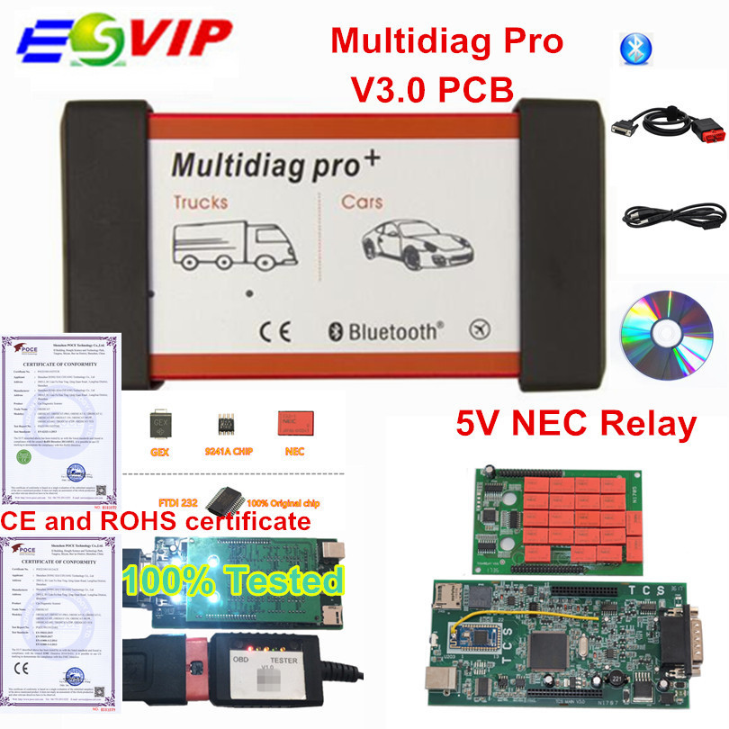 Multidiag Pro Bluetooth 2016.00/2015.R3 Free Keygen V3.0 NEC 9241A Double Green PCB OBD2 Car Truck Diagnostic ToolMultidiag Pro Bluetooth 2016.00/2015.R3 Free Keygen V3.0 NEC 9241A Double Green PCB OBD2 Car Truck Diagnostic Tool
