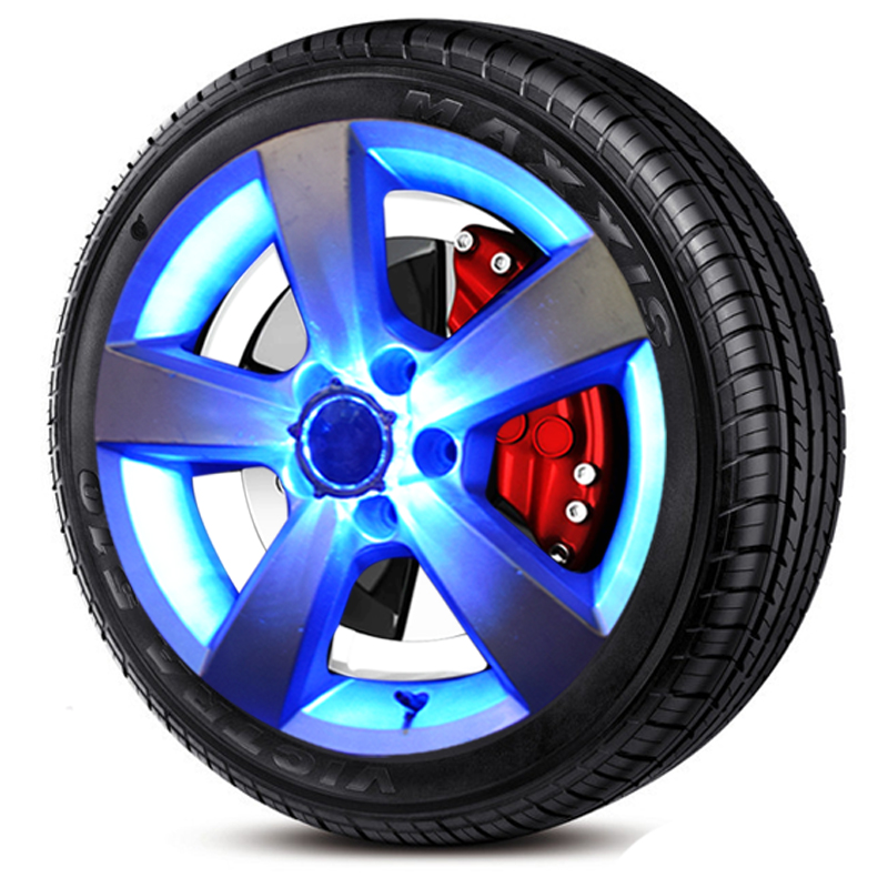 Auto Parts Coupons >> Candy Colors Flash Solar Light RGB LED Lamp Car Styling Refitting Wheel Hub Cap Rim Cool ...