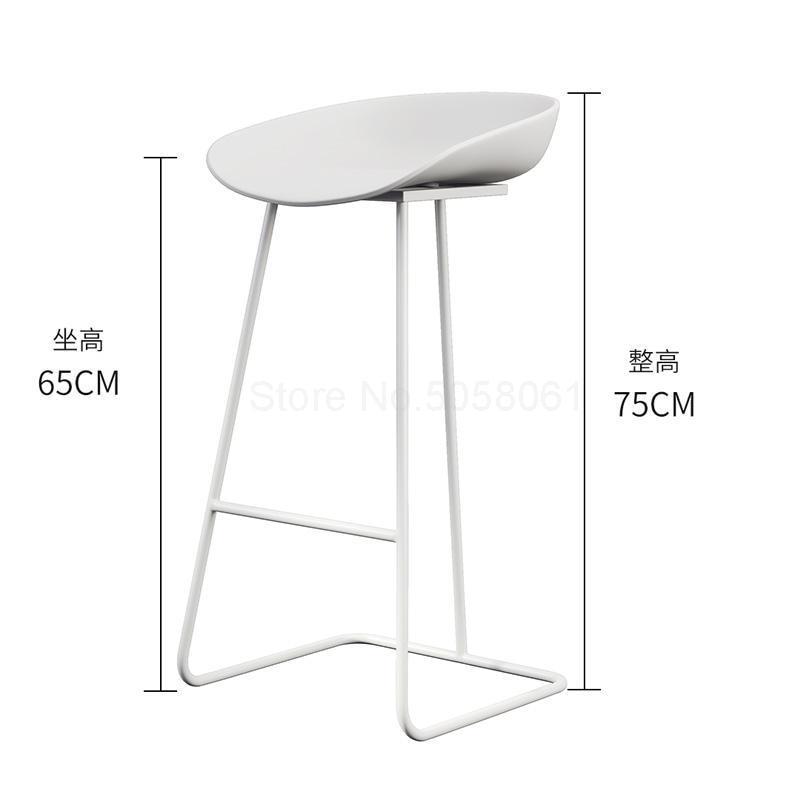 Скандинавский барный стул из кованого железа креативный простой барный стул кафе Золотой барный стул передний высокий стул - Цвет: ml1
