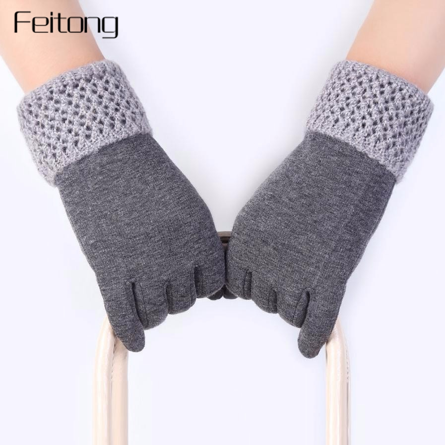 Fashion Ladies Gloves Women Winter Outdoor Hand Warmer Cashmere Glove Mittens Women Screen Gloves Guantes #JO