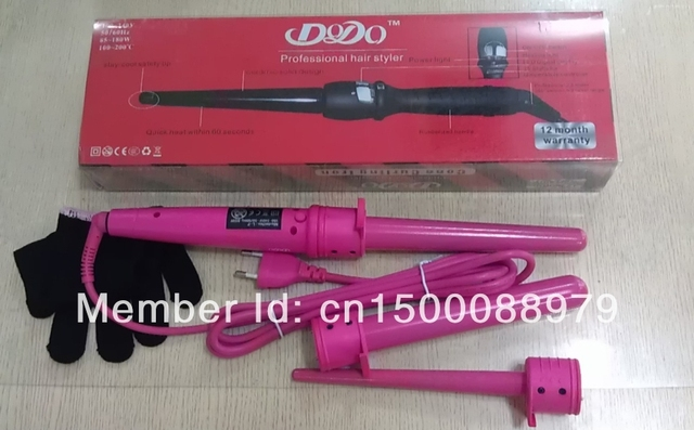 Hair Styler Ceramic Tapered Professional Curling Iron As Seen On Tv Tongs Wand Roller Diy