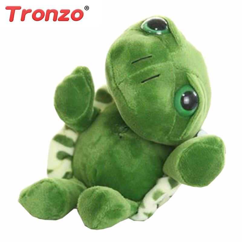 Tronzo 20cm Super Green Big Eyes Stuffed Tortoise Turtle Animal Plush Baby Toy Birthday/Christmas Gift  For Kids Dropshipping stuffed animal 45 cm turtle plush toy big eyes tortoise doll throw pillow w3482