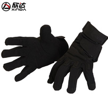 XINDA outdoor anti slip gloves Inferno tactical black mittens - cold and snow proof