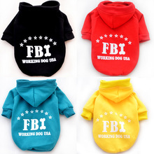 Dog pet cat fleece clothes sport shirt jumpsuit vest small dog puppy FBI police costume jacket coat sweatshirt pet Pajama hoodie