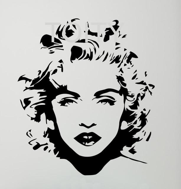 Madonna Wall Sticker Celebrity Pop Music Vinyl Decal Dorm