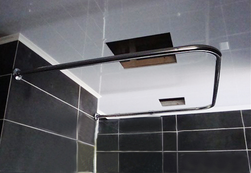 Customize Right Angle U Stainless Steel Shower Curtain Rod Curved Shower  Curtain Rod Right Angle L