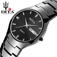 Dita amantes de pulsera de cuarzo marca reloj de cerámica negro para mujer para hombre de lujo reloj de pulsera niños niñas moda casual