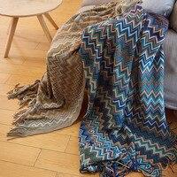 Bohemian knit blanket