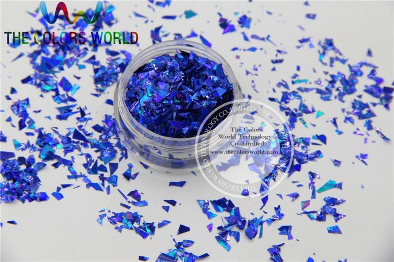 ̿̿̿(•̪ )TCA705 Holographic Royal Blue Color Mylar Sheet Random Cut ...